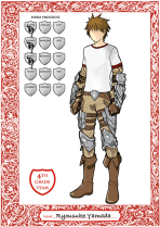 "Photoshop, Boy Character Sheet for ""Dollars & Dragons"" Project, 2014"