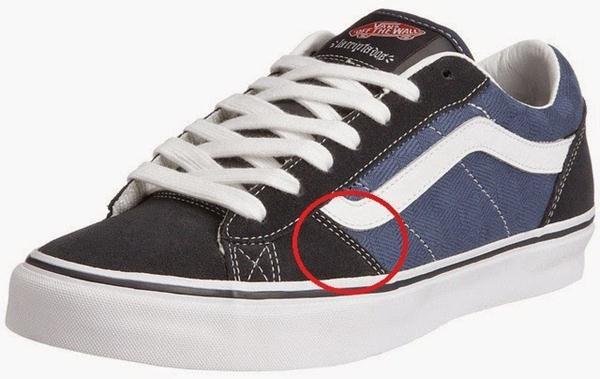 Jahitan cara membedakan sepatu Vans asli dan palsu