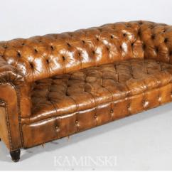 Kensington Leather Sofa Restoration Hardware Black Cheap Rh The New A Comparison Official Kaminski Vintage Chesterfield