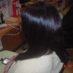 電子トリートメントと果汁シャンプーで髪の毛が再生した細い毛