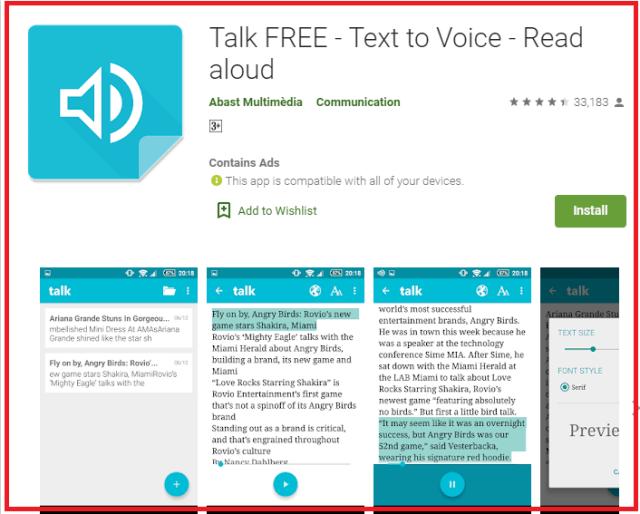 Talk FREE - Text to Voice