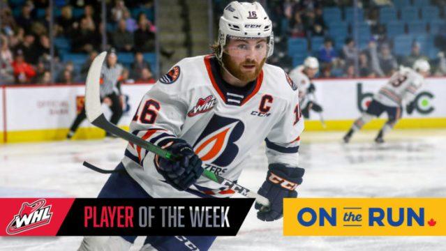 Blazers' Franklin named WHL On the Run Player of the Week – Kamloops Blazers