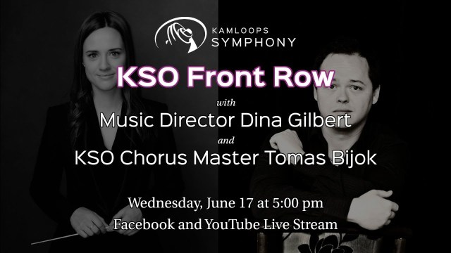 KSO Front Row with Music Director Dina Gilbert and KSO Chorus Master Tomas Bijok