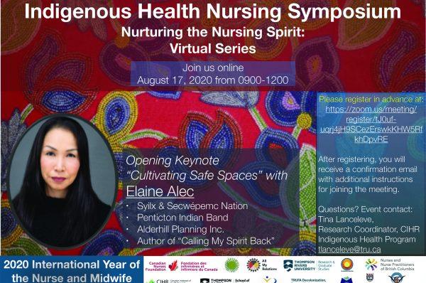 Indigenous Health Nursing Symposium (virtual) – TRU Newsroom