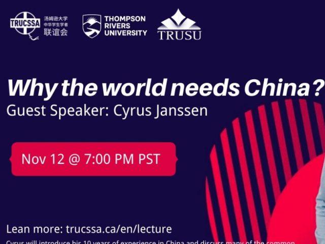 Why the world needs China? (With Cyrus Janssen) – TRU Newsroom