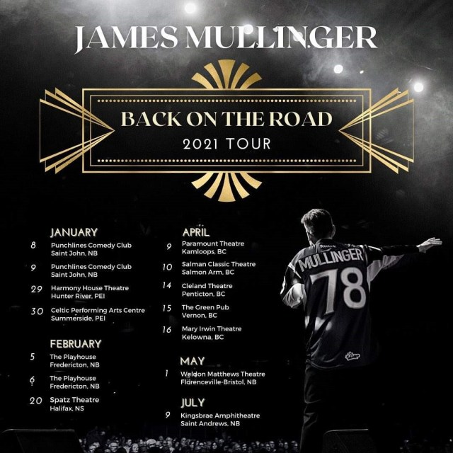 James Mullinger Back On The Road 2021 Tour Kamloops 630pm Show Fri Apr 9th
