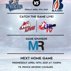 BLAZERS HOME TO ROYALS AT 7:00PM – Kamloops Blazers