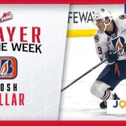 Blazers forward Pillar named WHL Player of the Week presented by Journie Rewards – Kamloops Blazers