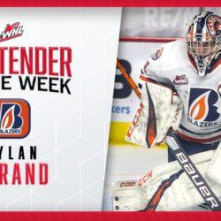 Blazers goaltender Garand named WHL Goaltender of the Week – Kamloops Blazers