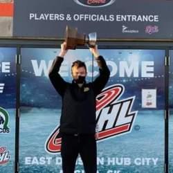 Congratulations to former Kamloops Storm Reid Perepeluk on winning the WHL East …