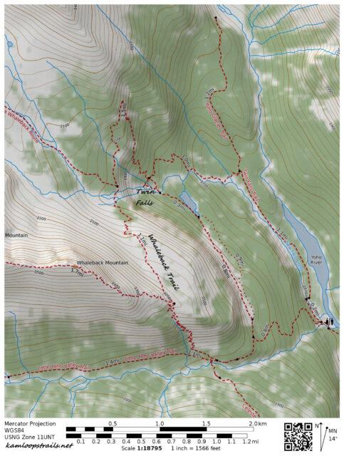 Twin Falls and the Whaleback Trail