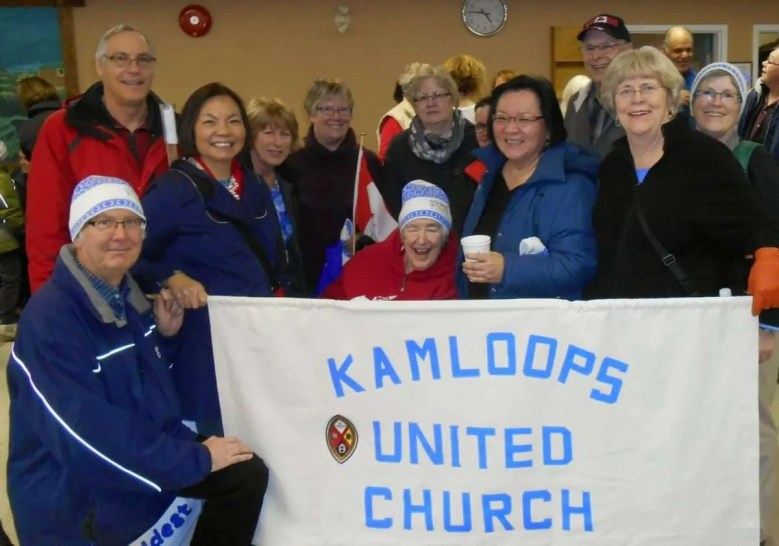 """""""Take 5"""" ~ like herding cats to get a team photo! Ron R, Ken, Rose, June, Anne B, Judy (friend of KUC) Hazel, Lillian (friend of KUC) Chuck P, Sharon and Patric. (Missing from photo is Vicky)"""
