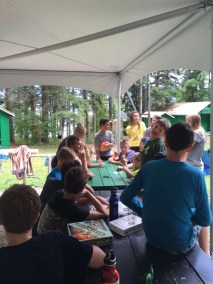 More games under the tent.