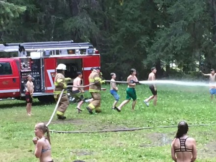 Grab the hose!