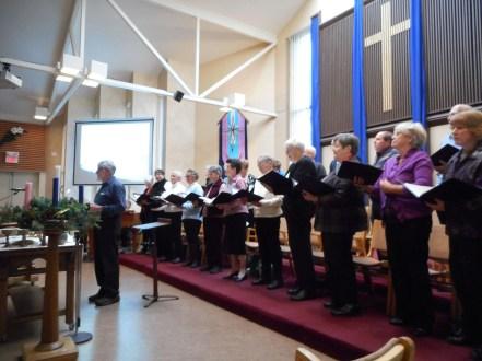 "Kelvin leads the ""Folk of Note"" choir."