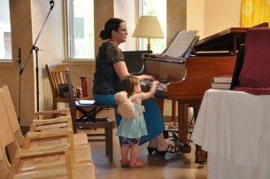 Sabrina and Niece making music.