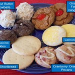Cookie varieties available to order.