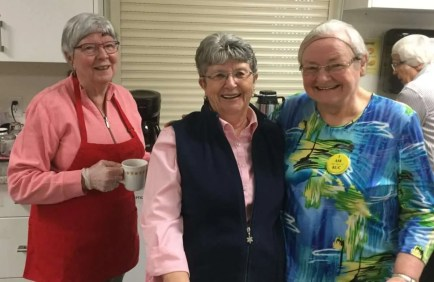 Marlene, Heather and Joan, Saturday lunch crew.