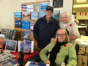 Gordon, Joan and Michelle Britton. We love Michelle's calendars!