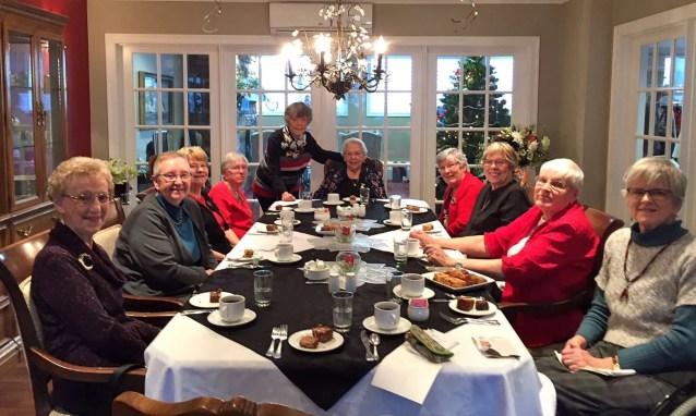 Doreen, Marnie, Sylvia, Pat, Lois, Muriel, Corinne, Marne, Margaret and Leslie