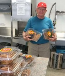 Derm with his cookies for the day!