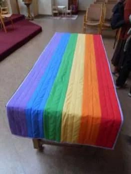 The new communion table runner.