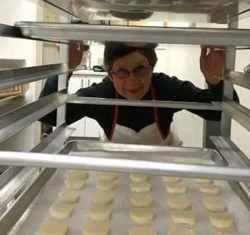 Cookie Coordinator Barb keeps her eye on it all!