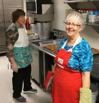 June and Donna working the ovens.