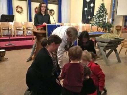 Zac engaged the children