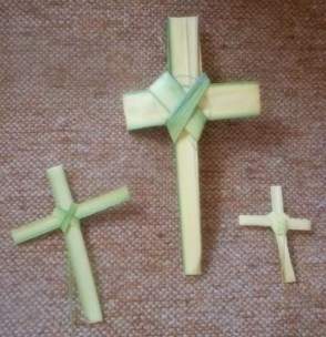 Palm frond crosses.