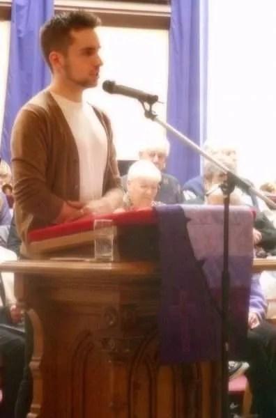 Jaris sharing the liturgy.