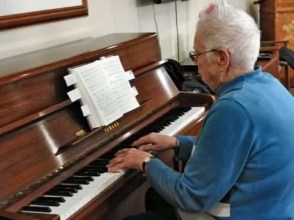 Elsie Shields is the pianist for Berwick Services.