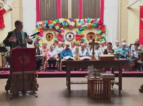 Bruce's last Sunday in the pulpit.