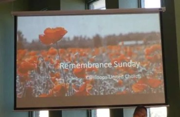 Remembrance Sunday with Kamloops United Church