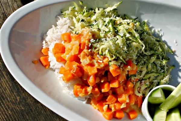 Gulerodscurry med ris