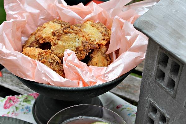 Cookies med blå ost og valnødder