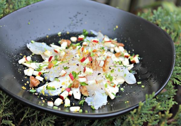 #MadbloggerUdfordringen5/Nordisk jul – rimmet torsk med knoldselleri, valnødder og æbler