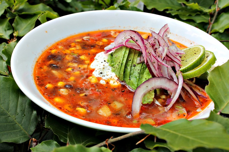 Mexicansk suppe med kylling