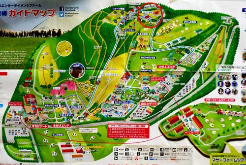 マザー牧場の地図縮小