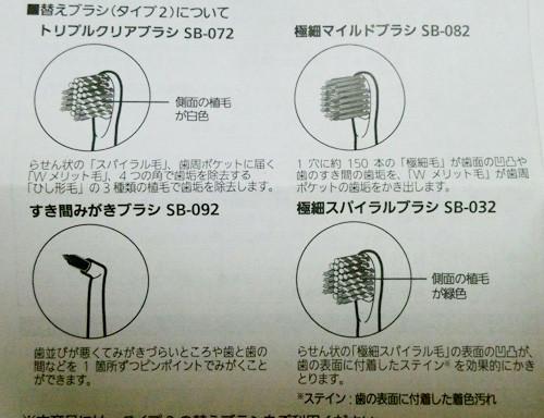 オムロン電動歯ブラシの替えブラシ