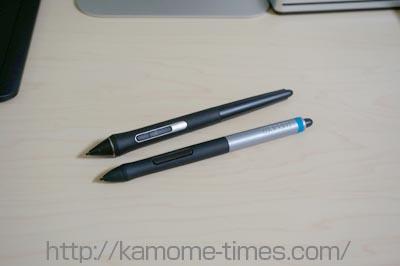 IntuosProとcomicのペンの違い