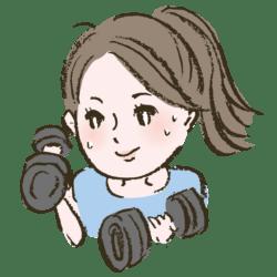 トレーニングを頑張る女性