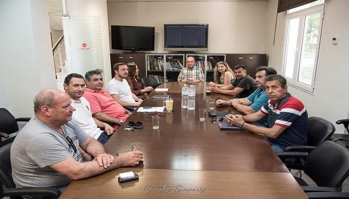 Ο Δήμαρχος Δέλτα με τους Προέδρους