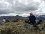 Lunch op de top van Sron Garbh (873 m)