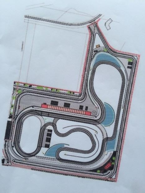 Plattegrond van Racepark Meppen
