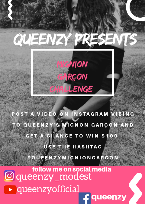 WIN 50K BY JUST MAKING A SELFIE VIDEO TO QUEENZY'S MIGNION GARCON