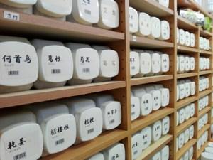 生薬棚の写真