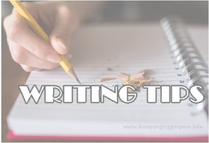 writing bahasa inggris yang baik dan benar