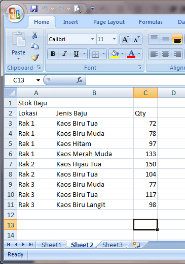 Rumus Excel Menghitung Jumlah Cell Yang Terisi : rumus, excel, menghitung, jumlah, terisi, Fungsi, COUNT