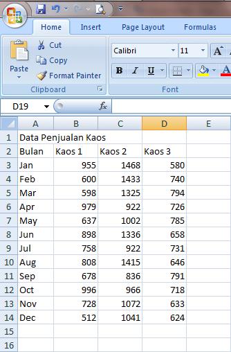 Cara Membuat Grafik Persentase Di Excel 2007 : membuat, grafik, persentase, excel, Membuat, Grafik, Excel